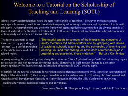 Carnegie SoTL Tutorial - University of Central Florida