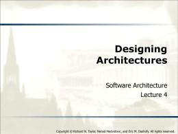 Designing Architectures