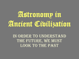 Astronomy in Civilization and contributing scientists. ppt
