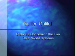 Galileo Galilei - TCNJ | The College of New Jersey