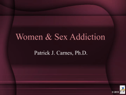 Women & Sex Addiction