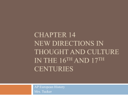 Chapter 14 New Directions in Thought and Culture in the