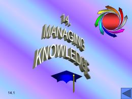15. MANAGING KNOWLEDGE