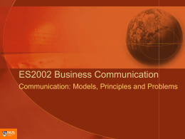 ES2002 Communication Process