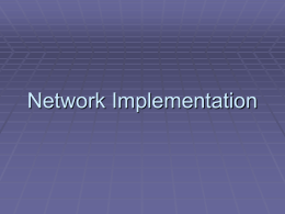Network Implementation - Welcome to Medgar Evers …