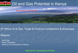 KENYA ONSHORE AND OFFSHORE