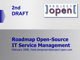 ]project-open[ IT Service Management Roadmap