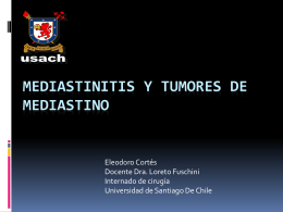 Mediastinitis y tumores de mediastino