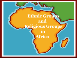 Ethnic and Religious Groups