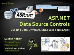 ASP.NET Data Source Controls
