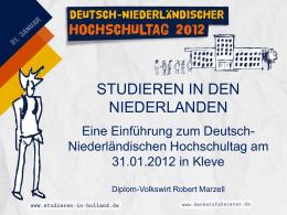 Diplom-Volkswirt Robert Marzell STUDIEREN IN DEN