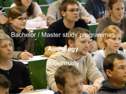 Experience with the new Bachelor / Master study …