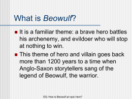 Why is Beowulf important?