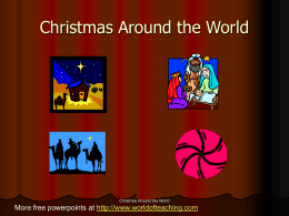 Christmas Around - World of Teaching