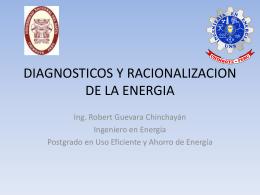 DIAGNOSTICOS Y RACIONALIZACION DE LA ENERGIA