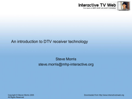 DTV receiver technology – an introduction