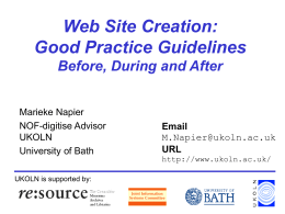 Best Practices For Project Web Sites