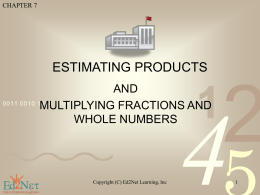 ESTIMATING PRODUCTS
