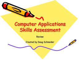 Computer Applications Skills Assessment