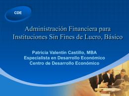 Manejo de las Finanzas en Entidades sin Fines de Lucro