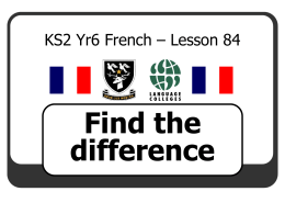 KS2 Yr 5 French – Lesson 1