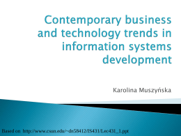 Contemporary business and technology trends in …