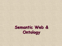 Introduction Semantic Web and Ontology