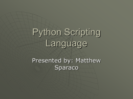 Python Scripting Language - IST Home | Information