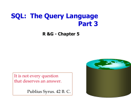 SQL Queries - University of California, Berkeley