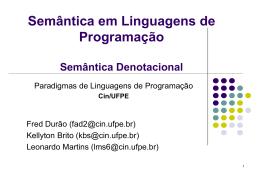 Semantica de Linguagens de Programacao