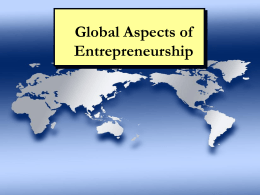 Chapter 14: Global Aspects of Entrepreneurship