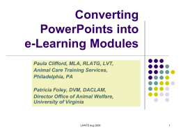 Converting PowerPoints into e