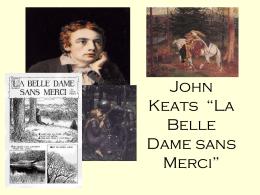 "John Keats - ""La Belle Dame sans Merci"""