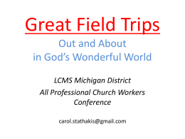 LCMS Michigan District All Professional Church Workers