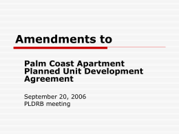 Town Center PUD Agreement Modifications