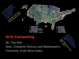 Overview of Grid Computing