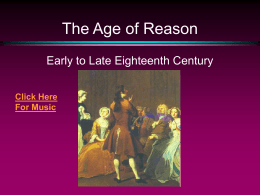 The Age of Reason - University of Mississippi