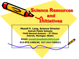 Science Resources and Initiatives