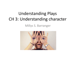 Understanding Plays - National Chiao Tung University