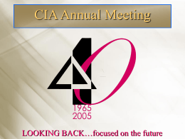 CIA Pension Seminar