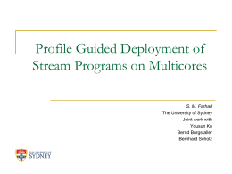 Static Translation of Stream Program to a Parallel System