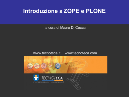 1. ZOPE: la storia - da software proprietario a free software