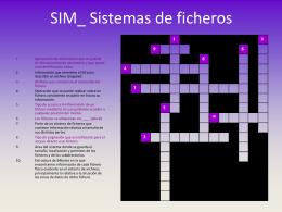 Crucigrama Sistemas de ficheros