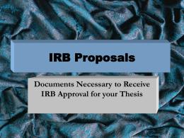 IRB Form #1 - University of Texas at Arlington