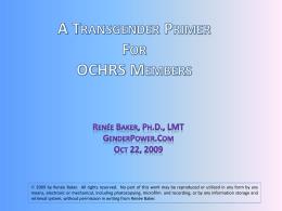 Slide 1 - Gender Power - Transgender Counseling