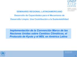 Implementacion de la Convencion Marco, el Protocolo de