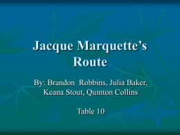 Jacques Marquette ppt - Castle Rock School District