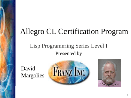 Lab Exercise Themes - Allegro Common Lisp