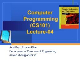 Computer Programming (CS101)