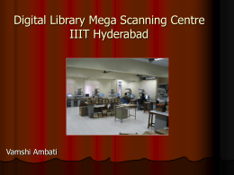 Regional Mega Scanning Centre IIIT Hyderabad